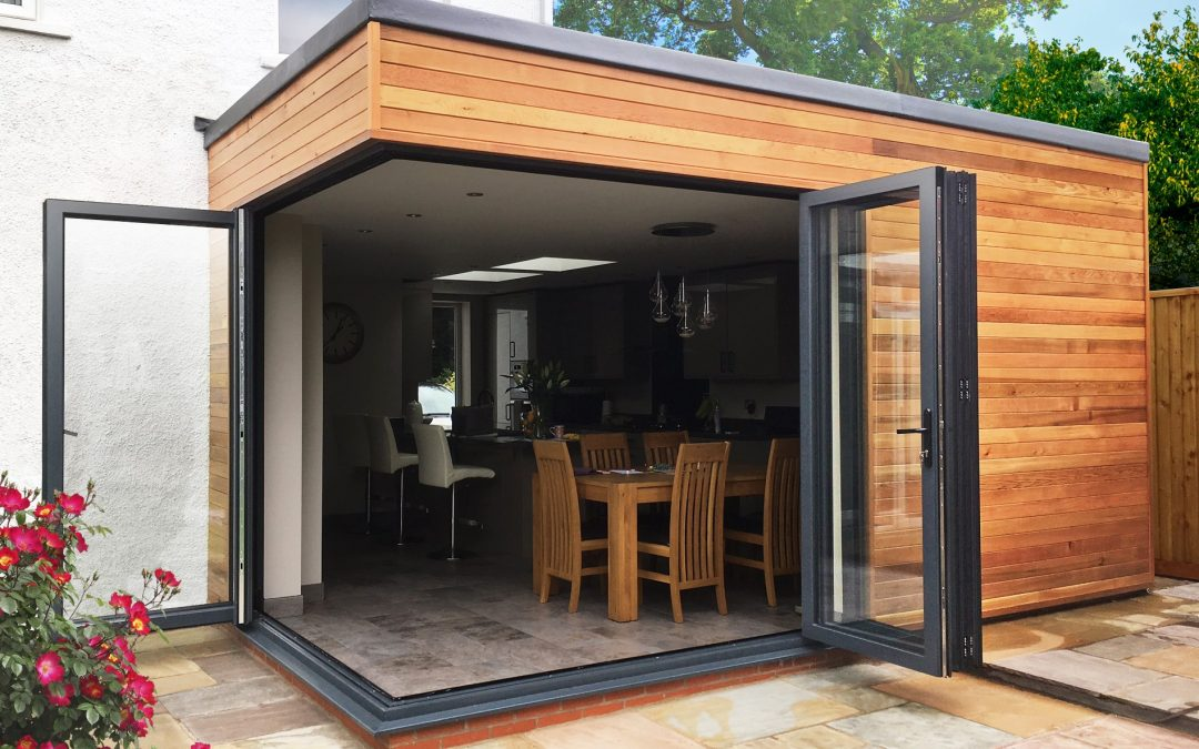 Folding sliding door system with space-saving design and functionality